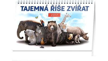 Stolní kalendář 2017 - Tajemná říše zvířat - dodání do 2 dnů