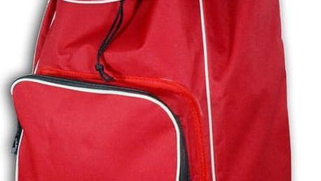 Červený nákupní košík na kolečkách s termo kapsou Jocca - doprava zdarma!