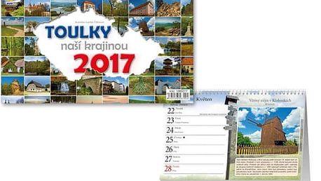 Stolní kalendář 2017 - Toulky naší krajinou - dodání do 2 dnů