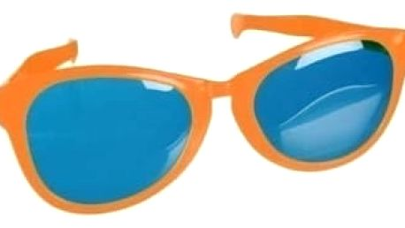 Brýle - gigant - oranžová