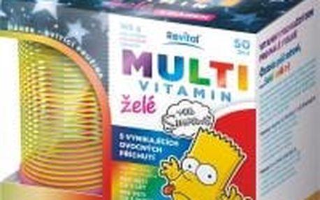 REVITAL The Simpsons Multivitamin želé 50 želé + svítící pružina DÁREK