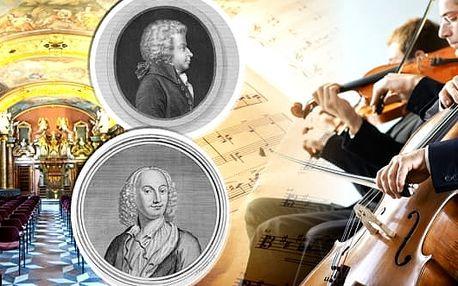 Balíček koncertů, 2 vstupenky na různé koncerty pro 1 osobu - vstupenka na koncert W. A. Mozarta v Zrcadlové kapli Klementina a vstupenka na koncert ve Smetanově síni Obecního domu. Zaposlouchejte se do tónů mistrů klasické hudby v podání Dvořák Symphony