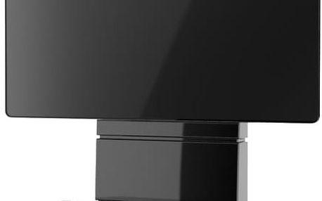Meliconi 488300 GHOST DESIGN 3000 Sestava pro TV a komponenty k instalaci na zeď, černá + Zdarma Meliconi C-35 P Čisticí sprej 35 ml + utěrka z mikrovlákna + štěteček, k čištění (v ceně 139,-)