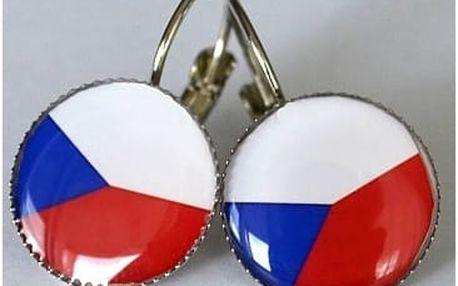Naušnice - vlajka ČR