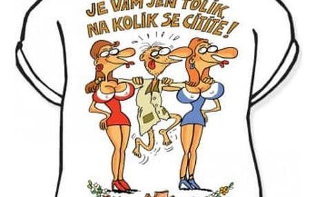 Divja Výročí muž 40 tričko pánské bílé - XXL