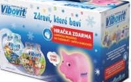 VIBOVIT vánoční balení Aqua 50 želé + Farma 50 želé + DÁREK lampička prasátko