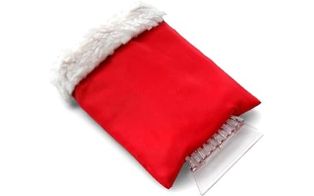 Škrabka se zateplenou rukavicí - červená