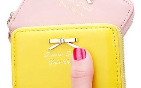 Elegantní kapesní peněženka s mašlí