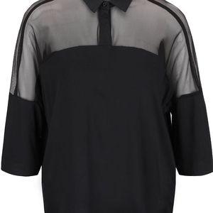 Černý top s průsvitnými rameny Alchymi Yorii