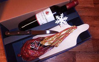 Sušená kýta Jamón s vínem Bordeaux v dárkovém balení