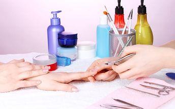 Luxusní manikúra s aplikací permanentního laku Shellac + maska na ruce a parafínový zábal