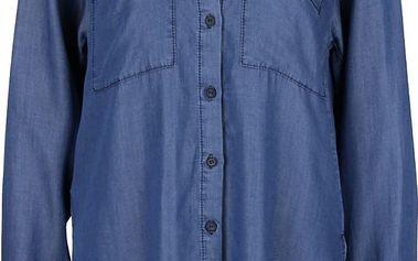 Modrá džínová dlouhá košile s kapsami Alchymi Dhani