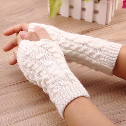Zimní pletené návleky na ruce