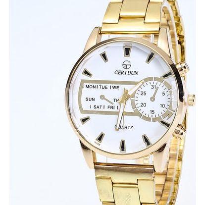 Unisex hodinky ve zlaté barvě - 3 varianty