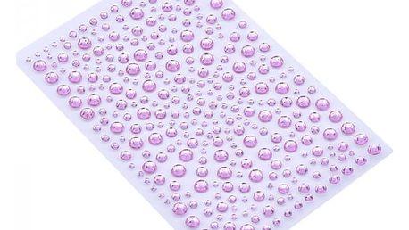Samolepící umělé drahokamy - 650 kusů - Růžové
