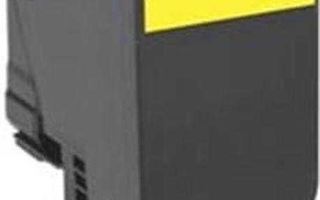 Lexmark 802HY velká žlutá tonerová kazeta,80C2HY0, 3000 str.; 80C2HY0