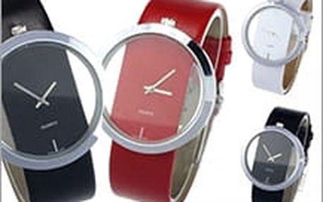 Mějte čas pod kontrolou! Dámské průhledné hodinky s koženým řemínkem budou ozdobou každé ženy.