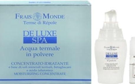Frais Monde Deluxe Spa Moisturizing Concentrate dárková kazeta pro ženy přírodní aktivní gel 40 ml + termální voda 10 ml + termální minerální sůl 1 g