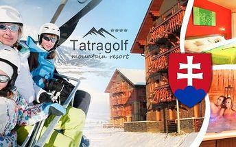 Zima a jarní prázdniny ve Vysokých Tatrách - pobyt v krásném hotelu Tatragolf Mountain Resort**** pro 2 osoby na 2, 3 nebo 6 nocí v luxusně zařízených apartmánech. Navíc sleva na vstup do AquaCity, Wildparku, VIP wellness nebo do masážního salónu přímo v