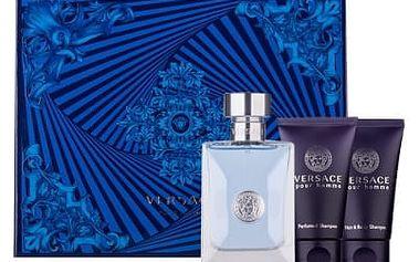 Versace Pour Homme EDT dárková sada M - Edt 50ml + 50ml sprchový gel + 50ml šampón