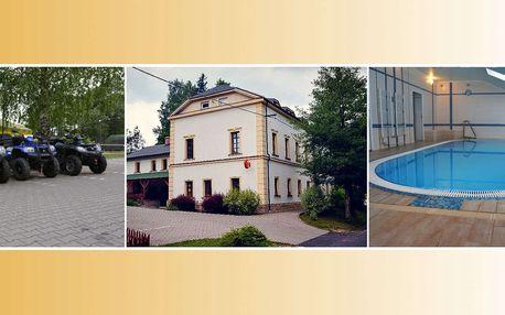 Hotel Rokytenka s wellness, čtyřkolkami a polopenzí pro dva