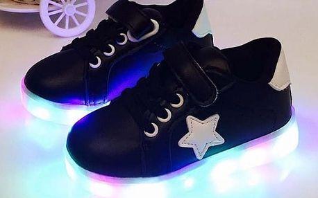 Dětské boty se svíticí podrážkou 26 - 30