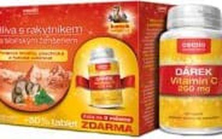 CEMIO Hlíva s rakytníkem a ženšenem 60+30 tablet + Vitamín C 250 mg ZDARMA : Výprodej