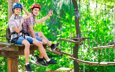 Adrenalinový pobyt v Lanovém parku Slapy