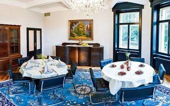 Pobyt v luxusní prvorepublikové vile v Jevanech