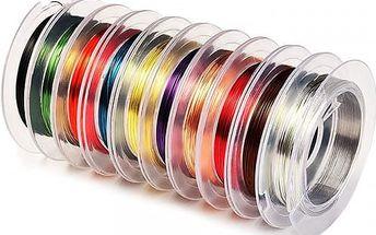 Barevné drátky pro výrobu šperků