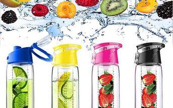 Sportovní lahev s infuzérem - růžová - dodání do 2 dnů