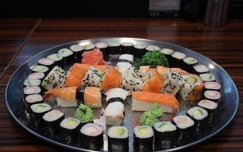 Asijské sushi speciality: 20 nebo 46 ks sushi set + salát, wasabi a zázvor zdarma