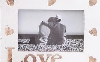 Bílý rámeček na fotografie Sass & Belle Love With Hearts