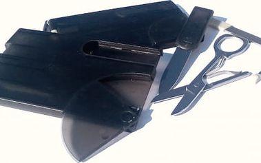 Karta přežití s nožíkem, nůžkami, pinzetou a dalšími vychytávkami - dodání do 2 dnů
