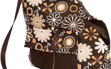 Transportní taška Samohýl Viky s květy 30cm hnědá