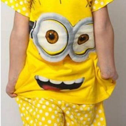 Dětské žluté pyžamo Mimoni