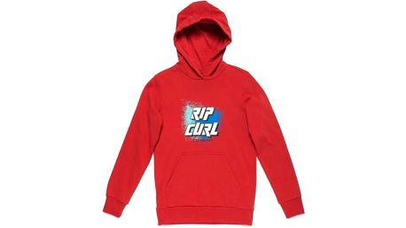 mikina RIP CURL - Slant Logo Hooded Fleece Pompeian Red (3621) velikost: 16