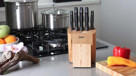 Šestidílná sada nožů PYREX v dřevěném bloku