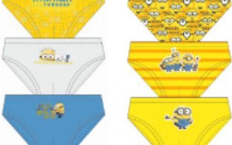 Chlapecké spodní prádlo Mimoni sada 3 ks