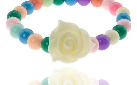 Fashion Icon Náramek korálky barevná růžička