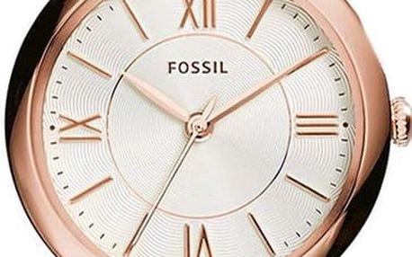 Dámské hodinky s tenkým řemínkem v růžovo-zlaté barvě Fossil