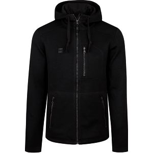 GODRIC pánský sportovní svetr/kapuce černá M