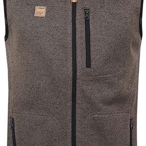 GARRY pánská vesta hnědá M