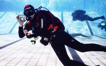 Ponor na zkoušku v bazénu do hloubky až 5 m v Brně s certifikátem o absolvování