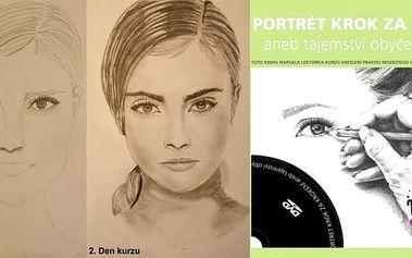 Online kniha + DVD v elektronické podobě Portrét krok za krokem aneb tajemství obyčejné tužky. Kniha je podrobným průvodcem pro všechny, kdo se chtějí naučit kreslit. Celý výklad knihy si můžete poslechnout a zároveň máte možnost shlédnout film bez jakého
