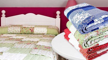 Přehozy na postel vyrobené technikou patchworku