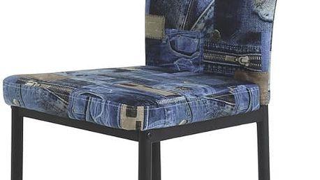 Židle Vera S, modrá, 41/95/56 cm