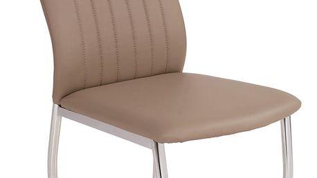 Židle Carla, béžová 44/94/61 cm