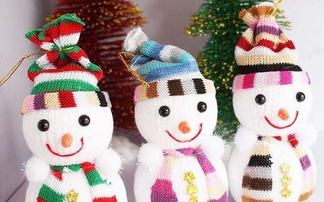 Závěsná vánoční dekorace - sněhulák