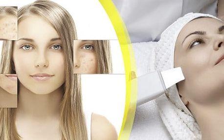 Hluboké čištění pleti ultrazvukem se speciální maskou, více než 80% čistých porů. Čištění mastné a aknózní pleti s maskou a s mikromasáží očního okolí.Přestaňte se trápit pupínky a rozšířenými póry.Studio Janebe přímo 3 min od metra C.